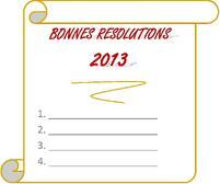 Bonnes Resolutions 2013 de Maven TM